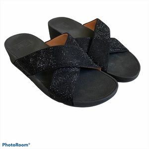 Fitflop Ritzy Slides SZ 9 Micro Crystals